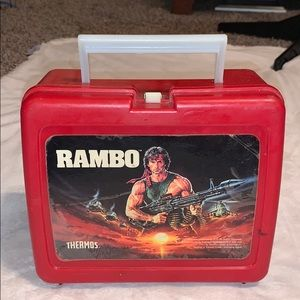 Rambo vintage 1985 thermos lunchbox